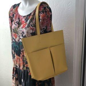 Neiman Marcus yellow tote bag